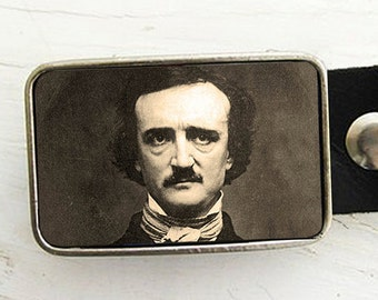 Edgar Allan Poe Belt Buckle