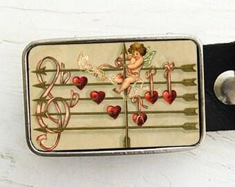 Vintage Cupid Belt Buckle
