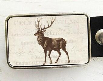 Vintage Deer Belt Buckle