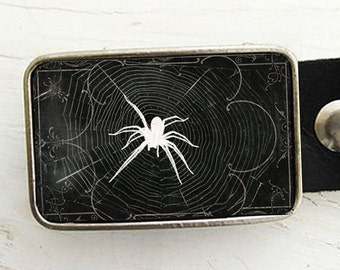 Spider Web Belt Buckle - Halloween