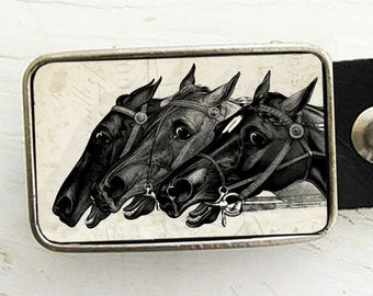Horse Racing Belt Buckle, Kentucky Derby