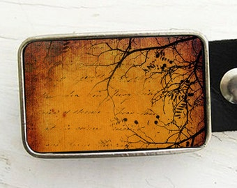 Amber Sky Belt Buckle- Tree Branches Belt Buckle