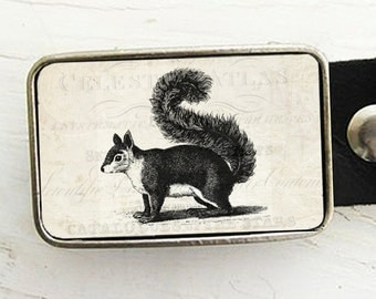 Woodland Creature Belt Buckle, Squirrel