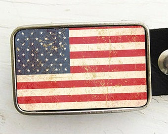 American Flag Belt Buckle Father's Day Gift