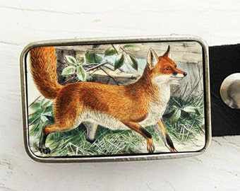 Fox Belt Buckle, Woodland Creature Belt Buckle