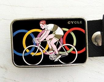 Vintage Cycle Belt Buckle, Bicycle Belt Buckle