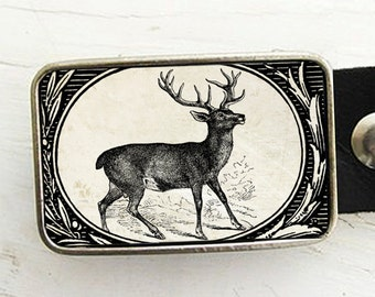 Woodland Deer Belt Buckle