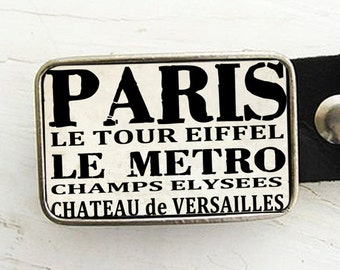 Paris Bus Scroll Belt buckle
