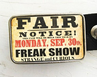 Freak Show Belt Buckle Carnival Belt Buckle