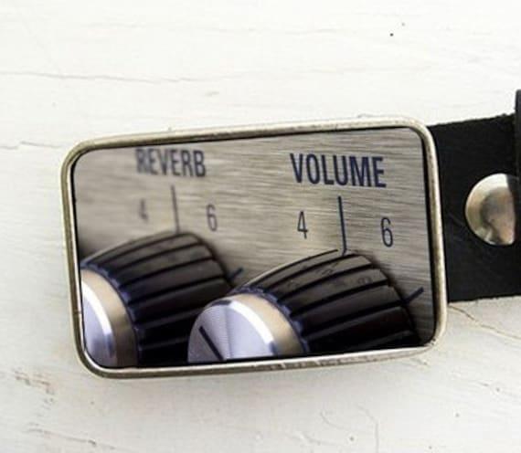 Audio Volume Reverb Knob Belt Buckle