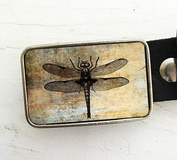 Vintage Dragonfly Belt Buckle