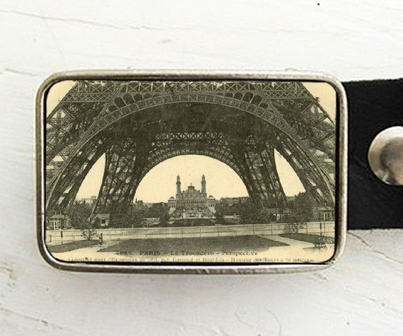 View from the Eiffel Tower Belt Buckle
