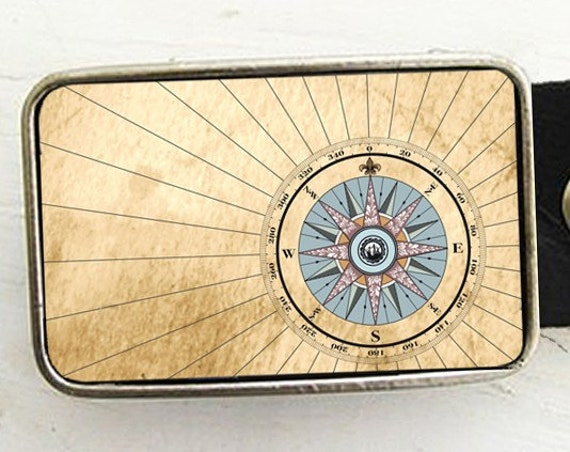 Compass Rose Belt Buckle- Nautical Inspired (pt one)