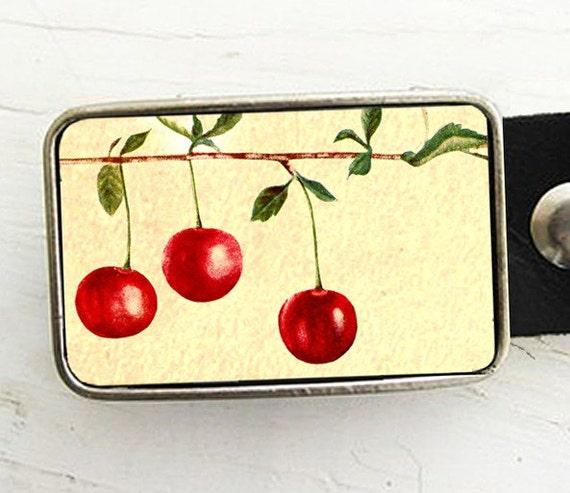 Vintage Cherry Belt Buckle