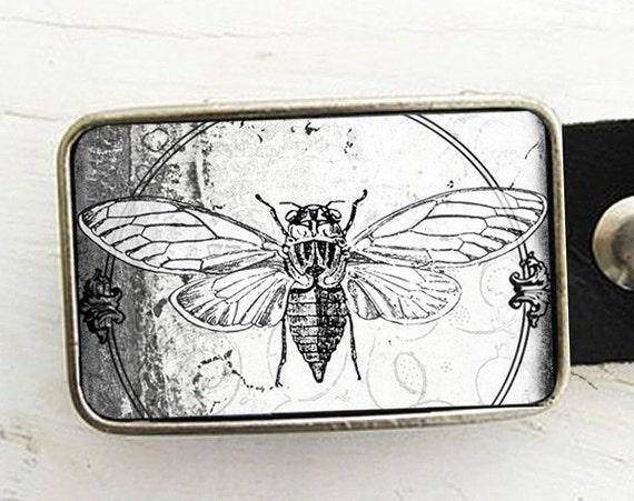 Vintage Bee Belt Buckle Cicada Belt Buckle