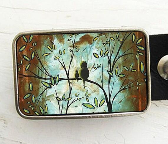 Birds in a Tree Belt Buckle