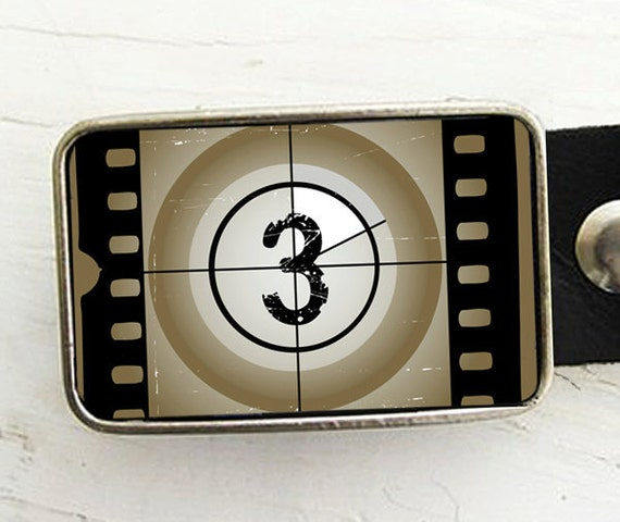 Filmstrip Belt Buckle (number three)