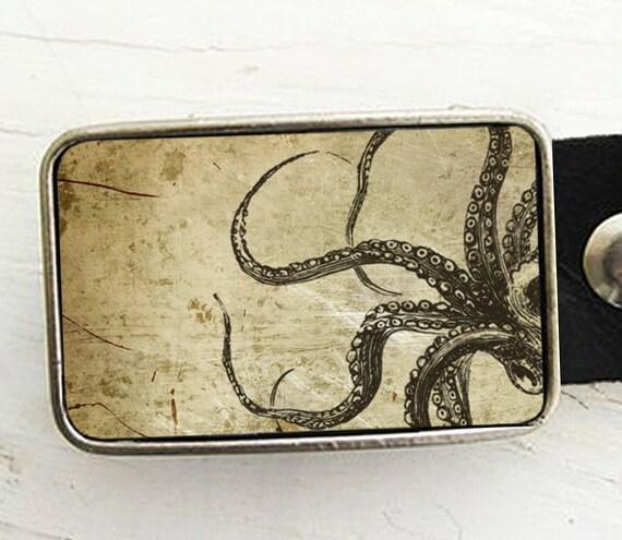 OctopusTentacles Belt Buckle