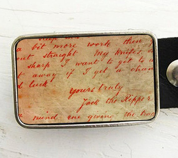 Jack the Ripper Belt Buckle- Dear Boss Letter