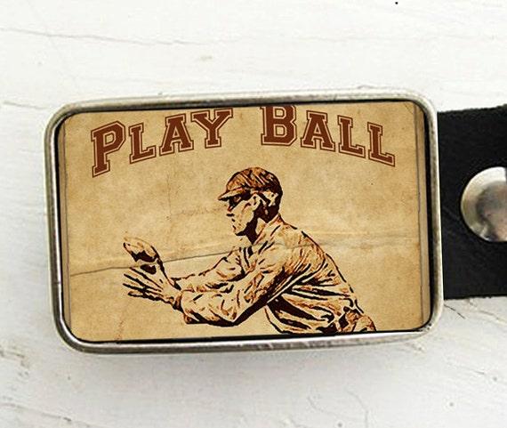Baseball Player Vintage Baseball Belt Buckle Father's Day Gift