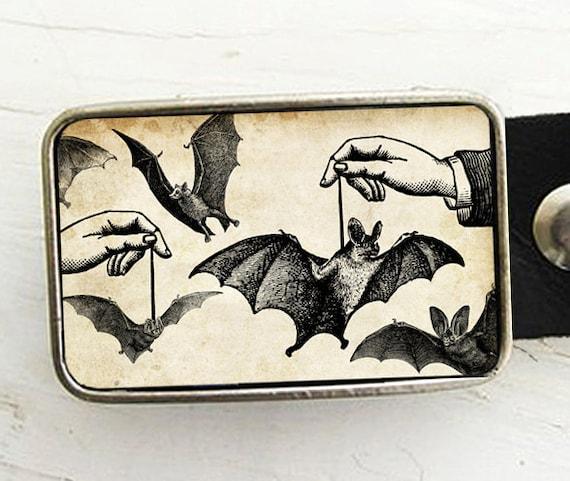 Dangling Bats Belt Buckle  Bat Belt Buckle Halloween Buckle