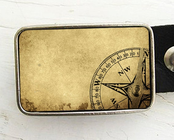 Belt Buckle for Men Vintage Compass Belt Buckle Father's Day Gift