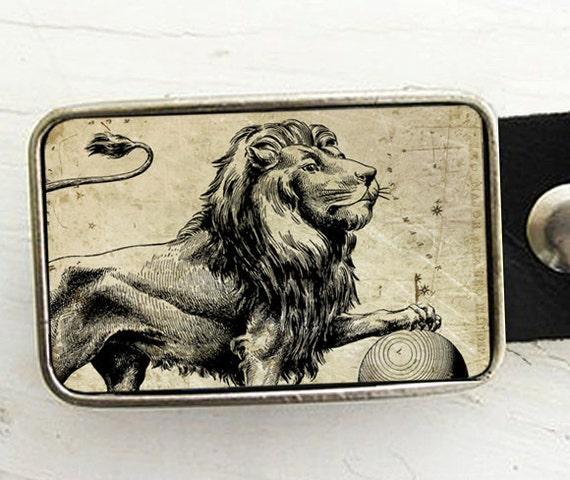 Zodiac Astrology Belt Buckle - Leo- The Lion