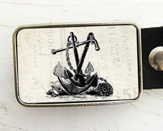 Nautical Anchor Belt Buckle- Groom, Groomsmen Gift