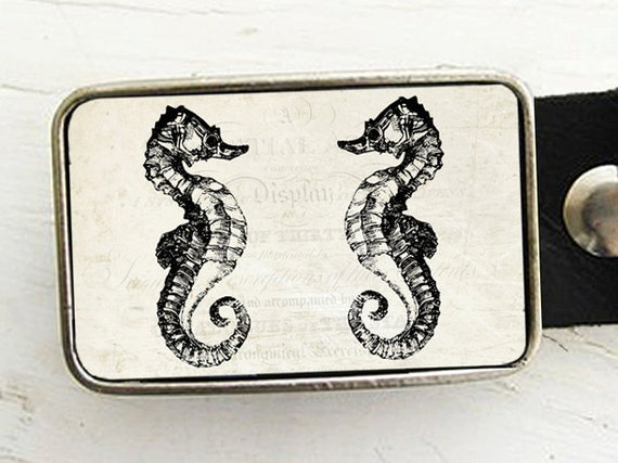 Seahorse Belt Buckle- Nautical Style