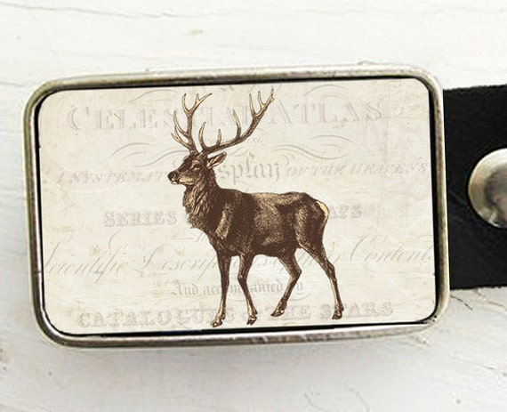 Vintage Deer Belt Buckle