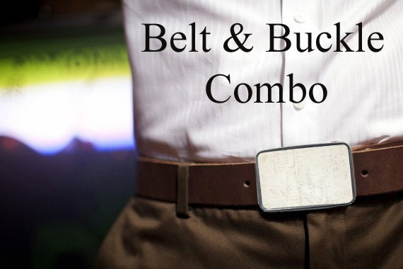 Bmused Belt Buckle with Belt Combo (brown)