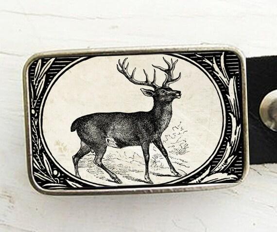 Woodland Deer Belt Buckle