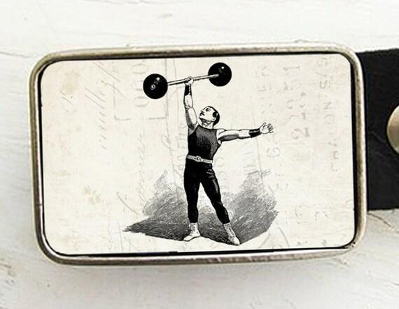 Circus Strongman Belt Buckle