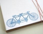 Bicycle screenprinted flat notes - set of 5