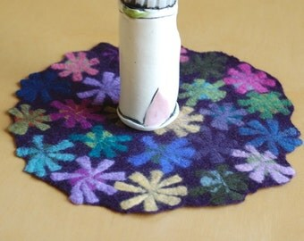 dark wine pin wheel table runner