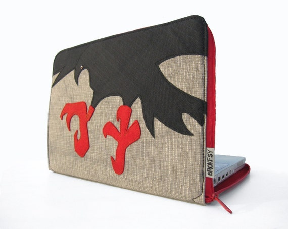 "Laptop Sleeve - 13"" MacBook Pro or Air - The Crow"