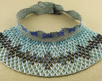 netted blue collar