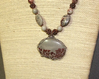 Chinese Flower Jasper w/Copper accents