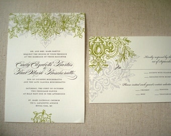 Royal Aisle Script  Wedding Collection  - Invitation Save The Date Ceremony Programs Menus Thank You Cards