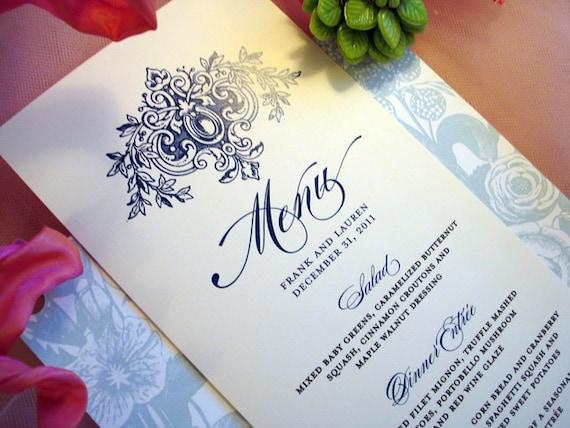 Royal Aisle Wedding Collection - Menu Cards