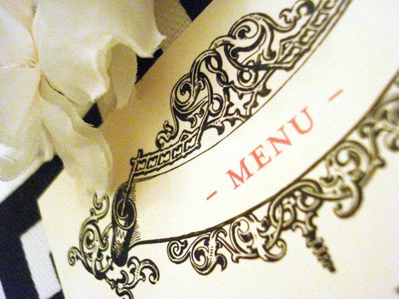 Charming Vintage Wedding Collection- Menu