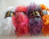 STUDIO CLEANING SALE - 4 Skeins of Lion Brand Fun Fur Yarn