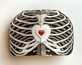 Ribcage Heart Custom Scratch Off Card