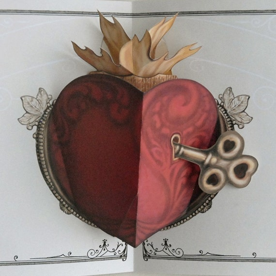 Key to Ones Heart  Popup Card
