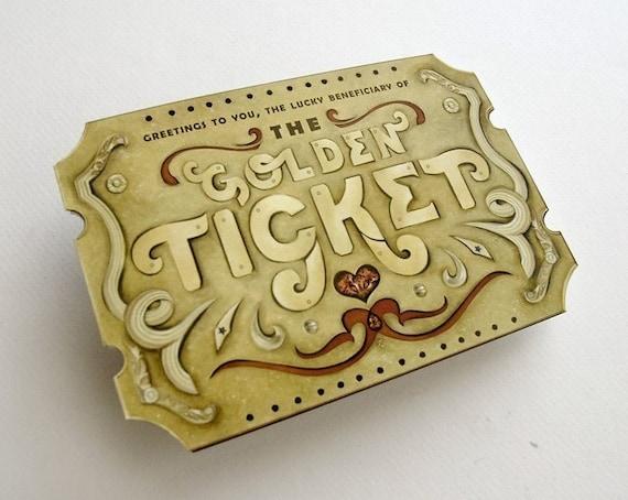 Valentine Custom Golden Ticket Scratch Off Card