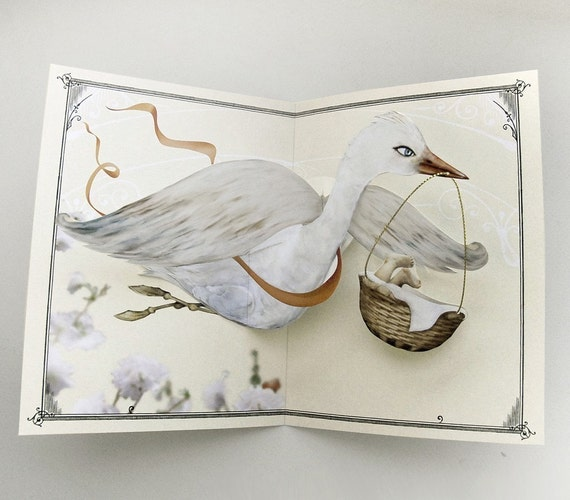 Special Delivery Bird Baby Pop Up Card