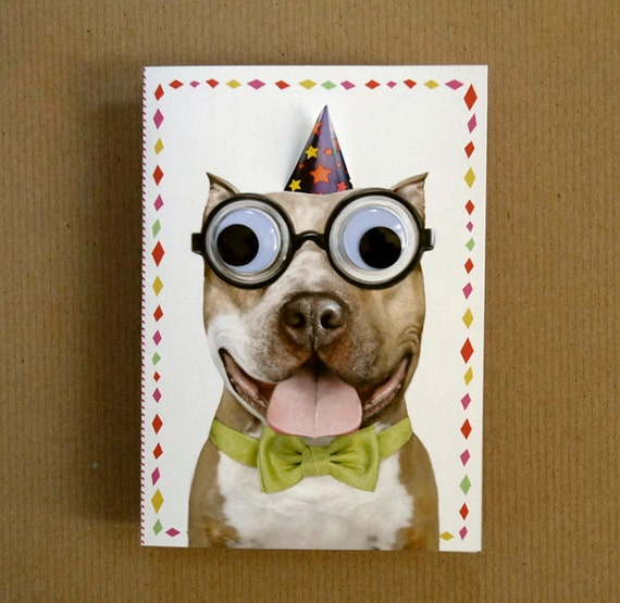 Silly Nerd Party Dog Greeting Card
