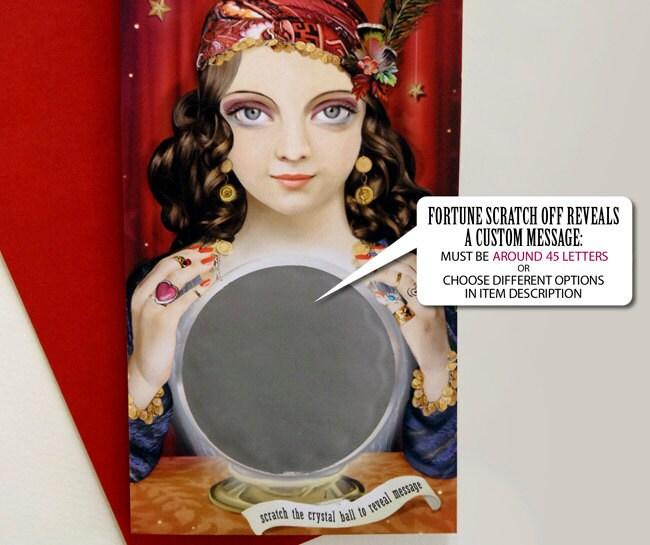 Gypsy Fortune Teller Custom Message Card