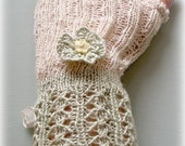 Dragon Lace Fingerless Gloves - OOAK - Wedding