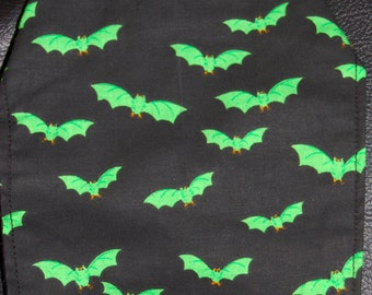 Gothic green batson black small dog cape